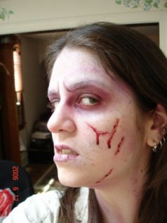 trauma, wound, sfx make up, special effects makeup, rigid colloidon, liquid scar, veins, blood