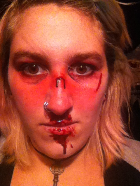 broke nose effects make up