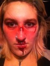 broke nose effects make up