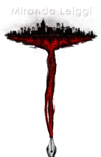 digital poster city bleeding fountain pen