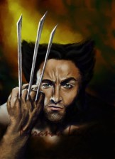 hugh jackman, x-men, weapon x, digital art, fan art, marvel, comics, x-force