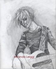 pencil, character study, bassist, male, man