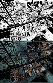 Dark Avengers pages 10 and 11 Inks and Colors