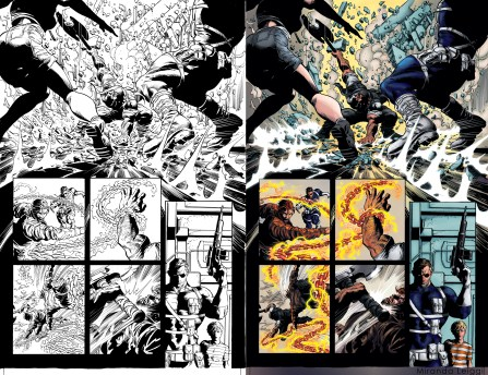 Dark Avengers page 14 Inks and colors