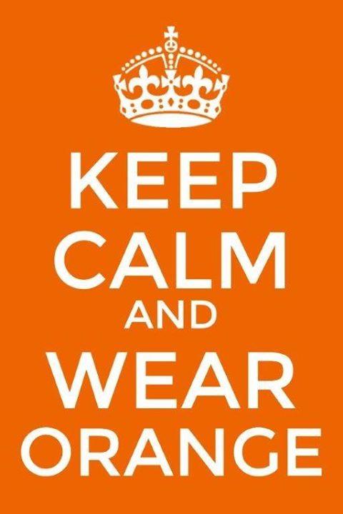 Koningsdag - Keep calm and wear orange