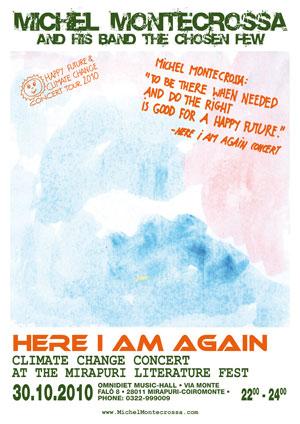 Concert Poster: Michel Montecrossa's 'Here I Am Again Concert'
