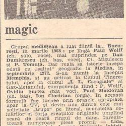 Formatia Magic in presa anilor `70