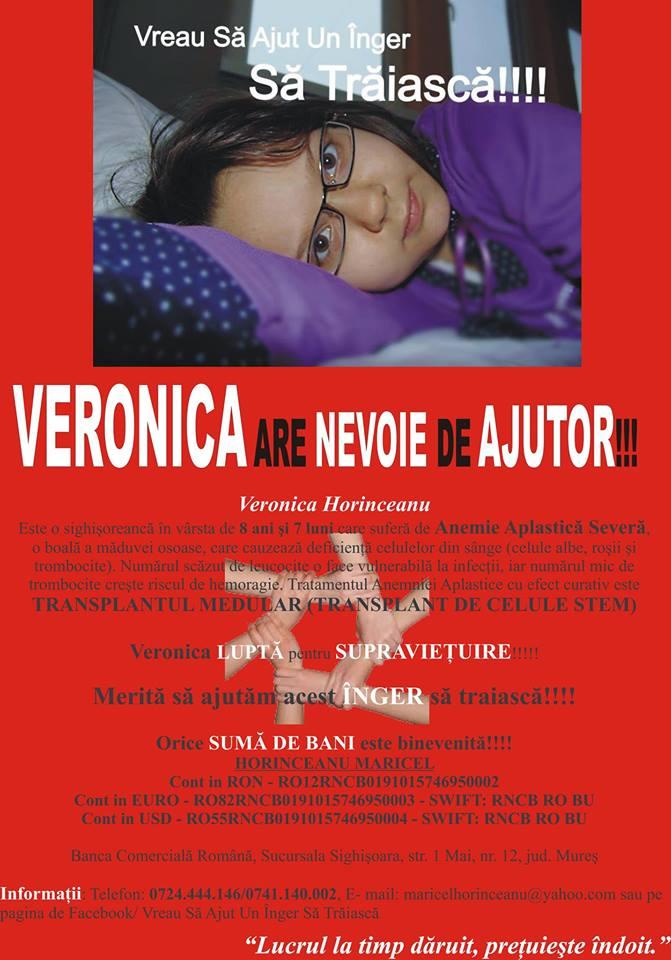 Veronica are nevoie de ajutor