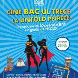 Cu nota 10 la Bacalaureat intri gratis la UNTOLD Festival