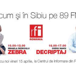 RFI poate fi ascultat la Sibiu pe 89 FM