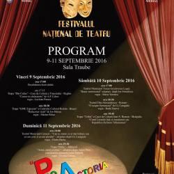 """Festivalul National de Teatru """"Pro Actoria"""", editia 2016"""