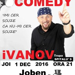 Seara de stand up comedy la Joben Club