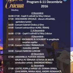 Programul Targului de Craciun,  6-11 decembrie 2016