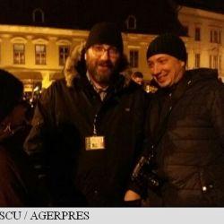 Preotul Constantin Necula, prezent la protestul de la Sibiu