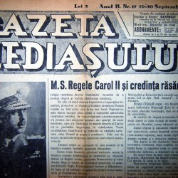 Remember: Gazeta Mediasului (1937 - 1941)