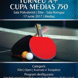 Peste 200 de jucatori de tenis de masa participa la Cupa Medias 750