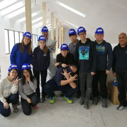 Au revenit voluntarii straini pe santierul Habitat for Humanity