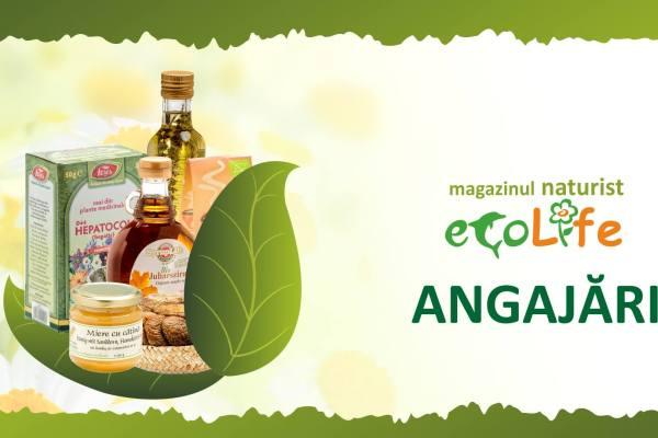 Magazinul naturist Ecolife angajeaza la Medias