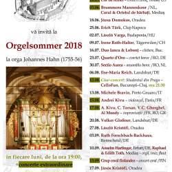 Programul Orgelsommer, editia 2018