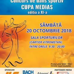 Cupa Medias la dans sportiv, sambata la Sala Sporturilor