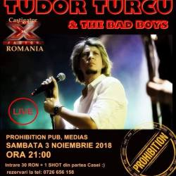 Tudor Turcu & The Bad Boys concerteaza la Prohibition Pub