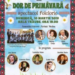Spectacolul folcloric ,,Dor de primavara'', editia 2019