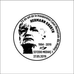 Stampila speciala dedicata Casei Memoriale Hermann Oberth