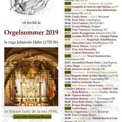 Programul stagiunii Orgelsommer 2019