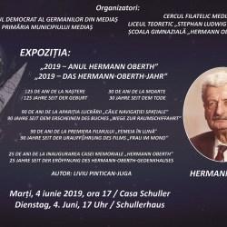 "Expozitie filatelica "" 2019 – Anul Hermann Oberth"""