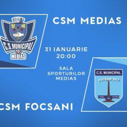Baschet: CSM Medias intalneste azi CSM Focsani