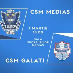 CSM Mediaș întâlnește pe teren propriu pe CSM Galați