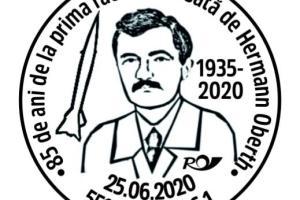 Stampilă specială dedicată lui Hermann Oberth