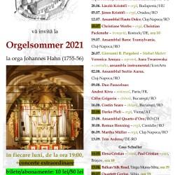Program stagiune Orgelsommer, ediţia 2021