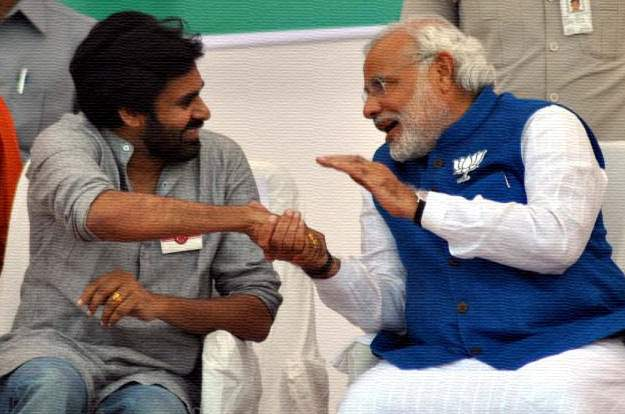 Image result for pawan with modi