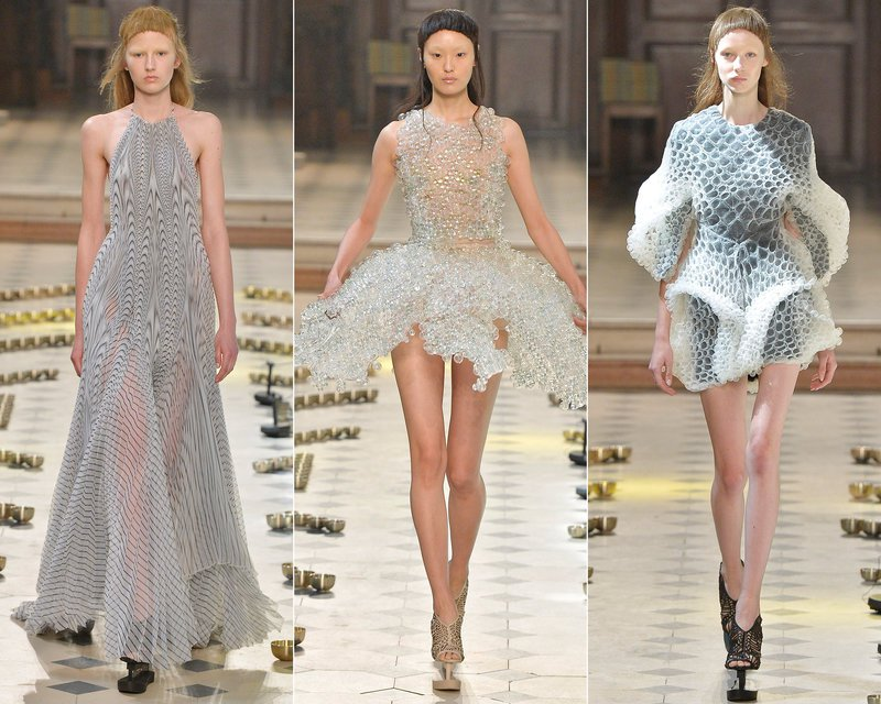 Elegantní šaty Paris Haute Couture Fashion Week