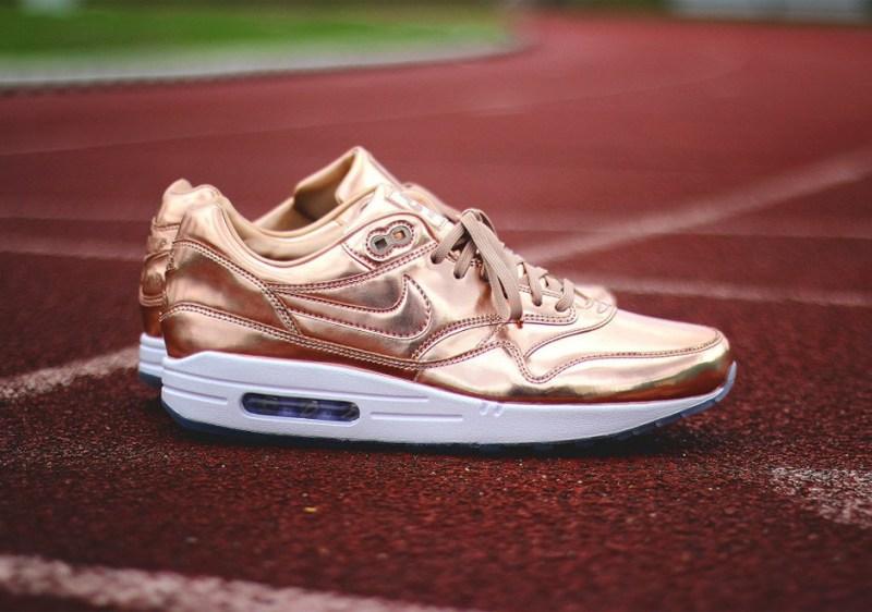 Nike Tenisky NikeiD Air Max 1 - bronzové