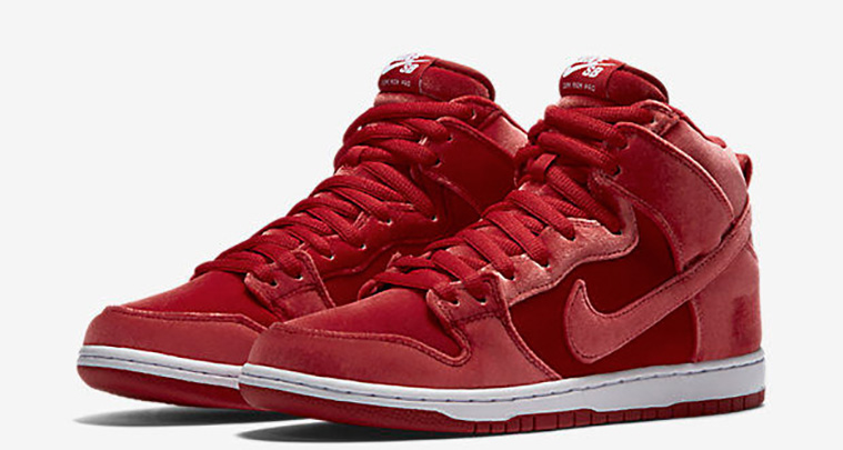 Super tenisky Nike SB Dunk High Red Velvet