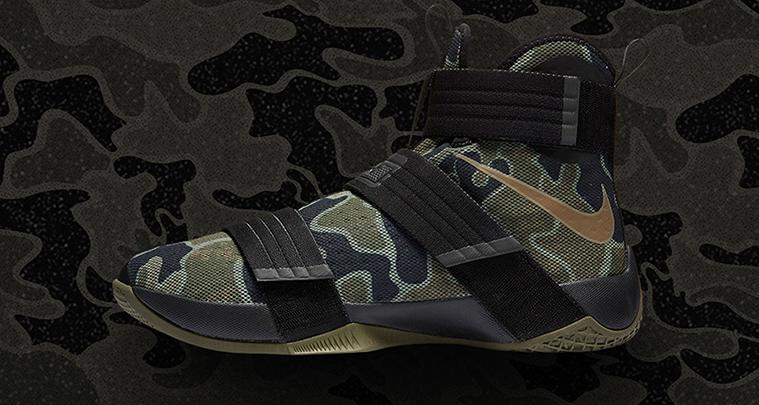 Nike a tenisky vojenského stylu LeBron Soldier 10 Camo