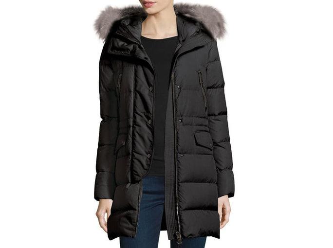 péřová bunda nebo kabát s teplou vložkou