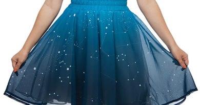 Svítící dámská sukně
