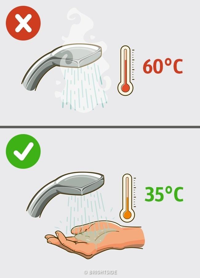 Moc horká voda způsobuje, že je naše kůže suchá a šupinatá.