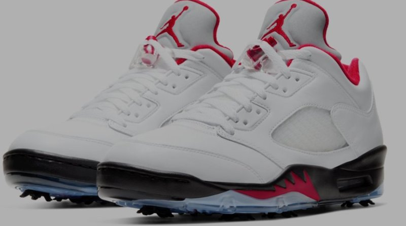 Tenisky Air Jordan 5 Golf Fire Red