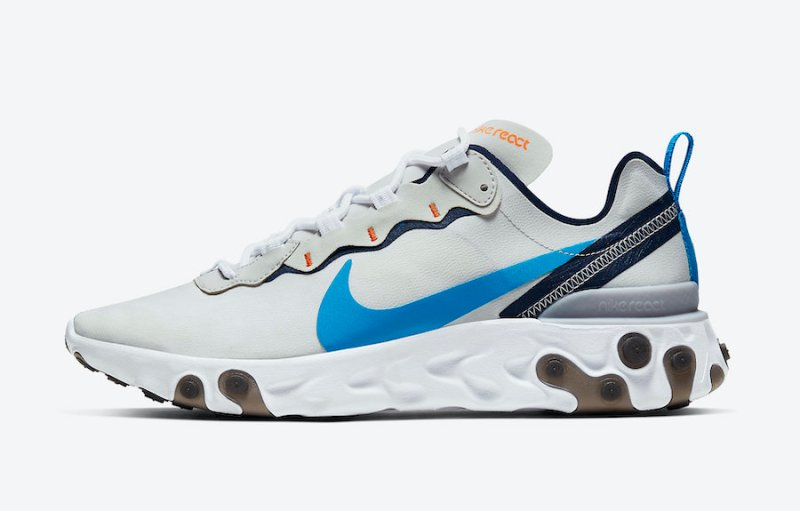 Tenisky Nike React Element 55 Vast Grey Clear Blue