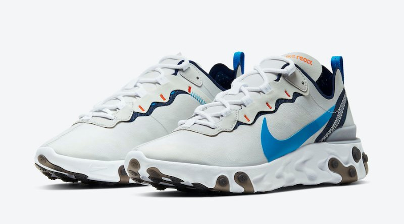 Tenisky Nike React Element 55 Vast Grey Clear Blue