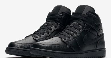 Tenisky Air Jordan 1 Mid Triple Black 554724-091