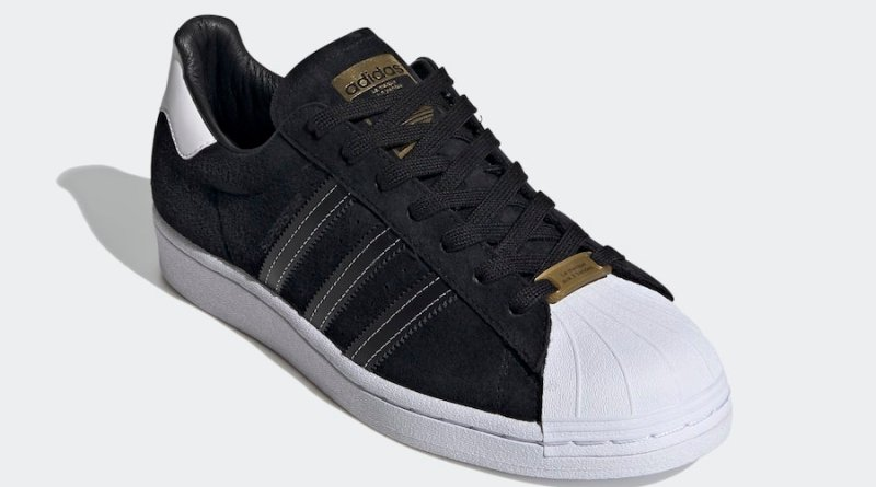 Tenisky adidas Superstar Black White Gold EH1543
