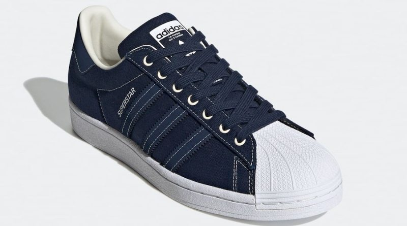 Tenisky adidas Superstar Canvas Blue FW2652