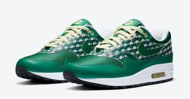 Pánské zelené tenisky Nike Air Max 1 Limeade Pine Green/Pine Green-True White CJ0609-300 nízké sportovní boty a obuv Nike