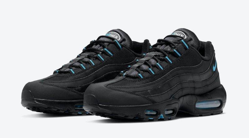Pánské černé tenisky Nike Air Max 95 Black/Laser Blue/White DC4115-001 nízké sportovní boty a obuv Nike