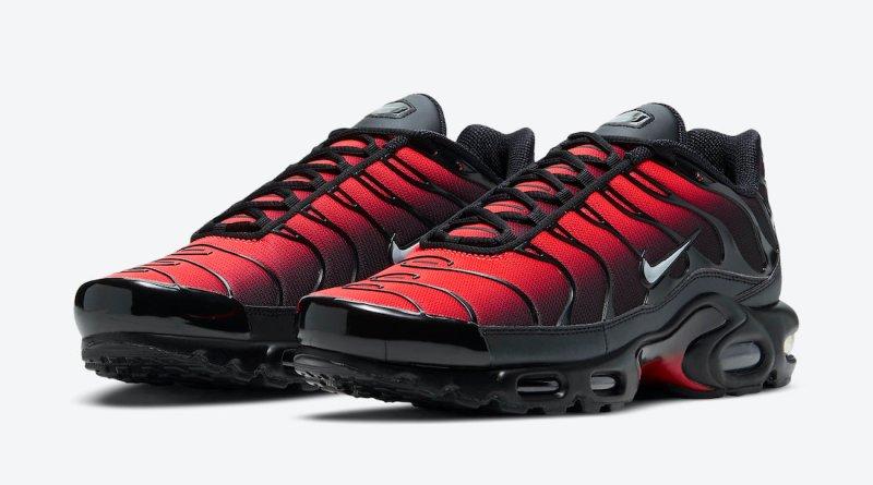 Pánské černé a červené tenisky Nike Air Max Plus White Silver Black Red DC1936-001 nízké sportovní boty a obuv Nike